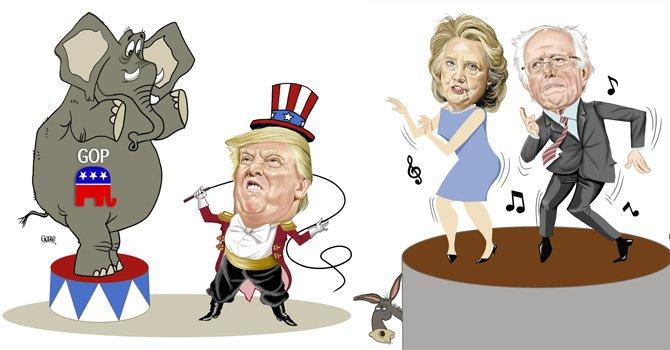 Más Trump y aún dos demócratas