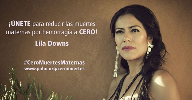 Cantante Lila Downs promueve los controles del embarazo