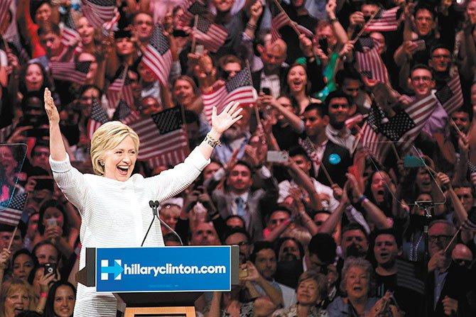 Hillary es la candidata Demócrata