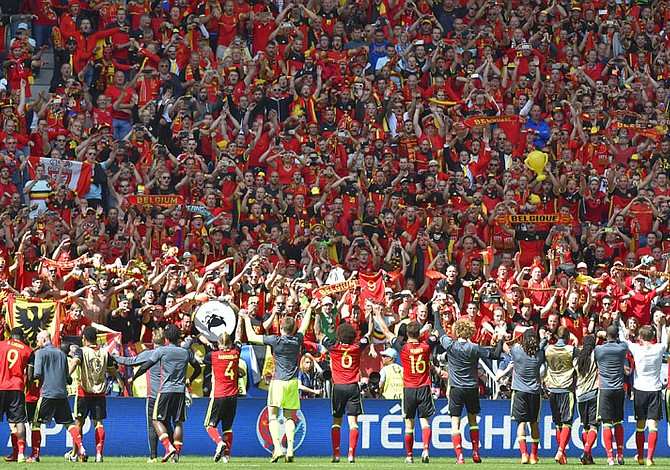 "EUROCOPA: Bélgica derrotó 3-0 a Irlanda con ""doblete"" de Romelu Lukaku"