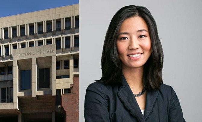 El City Hall de Boston, sede del Concejo Municipal. La Concejal Michelle Wu es la presidenta del Concejo.