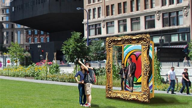 """Un ejemplo de las instalaciones que se presentarán es """"Get into the picture of Love and recharge your Heart!"""", una instalación del diseñador venezolano radicado en Boston Franklin Marval."""