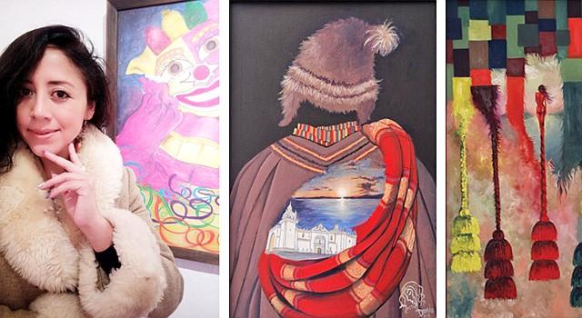ARTISTA.Massiel Dorado Peñaranda, visita Washington. CUADRO. Una de las obras que estará en exposición. PINTURA.Picasa, obra de Massiel Dorado.