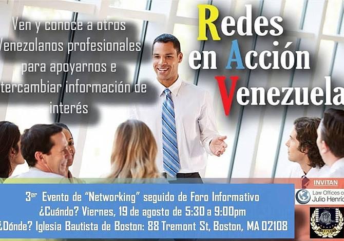 Este Viernes a las 5:30pm: Networking de Venezolanos en Boston