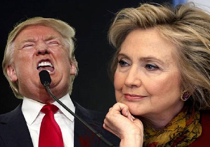 Hillary Clinton y Donald Trump están casi empatados