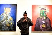 """El artista Edgar """"Saner"""" Flores."""