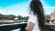 María, en Gaithersburg, Maryland, cuenta la dureza de su huida de El Salvador después de haber sido abusada por las pandillas. Ahora está feliz por haber recibido asilo en Estados Unidos. (Armando Trull/Para El Tiempo Latino)