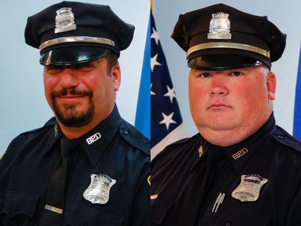 Los agentes de la policía de Boston, Richard Cintolo y Matthew Morris.