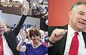 LÍDER. Tim Kaine  en el último día de la Convención Demócrata en Filadelfia donde aceptó la nominación a la vicepresidencia. En la foto, junto a su esposa Anne Holton quien fue Secretaria de Educación de Virginia.  VOZ. El candidato a la vicepresidencia, el demócrata Tim Kaine, durante una entrevista con El Tiempo Latino.