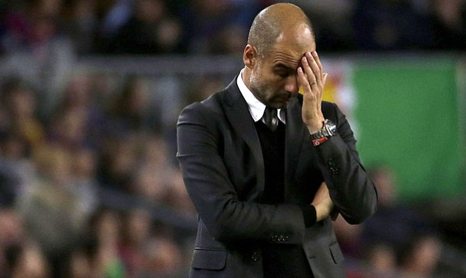 Guardiola encadena seis partidos sin ganar por primera vez en su carrera