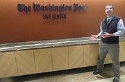 Fighter en el Centro de Transmisiones de The Washington Post.