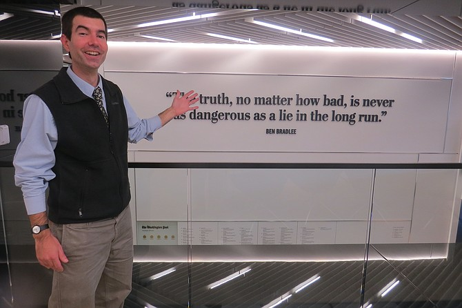 Fichter en la sala de redacción de The Washington Post, el 24 de octubre de 2016.