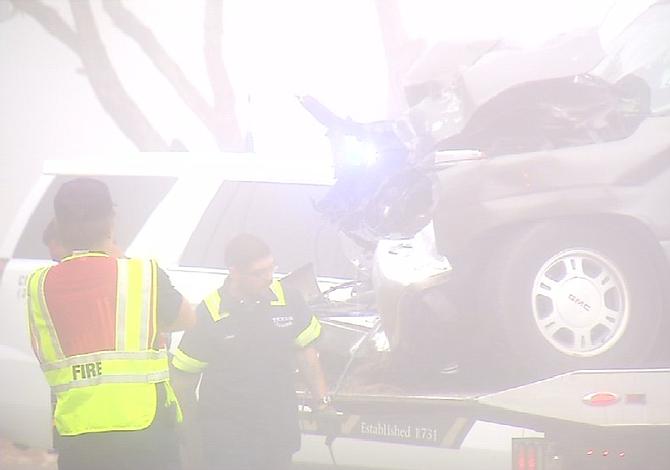 4 personas fueron llevadas al hospital después de un accidente el domingo por la mañana