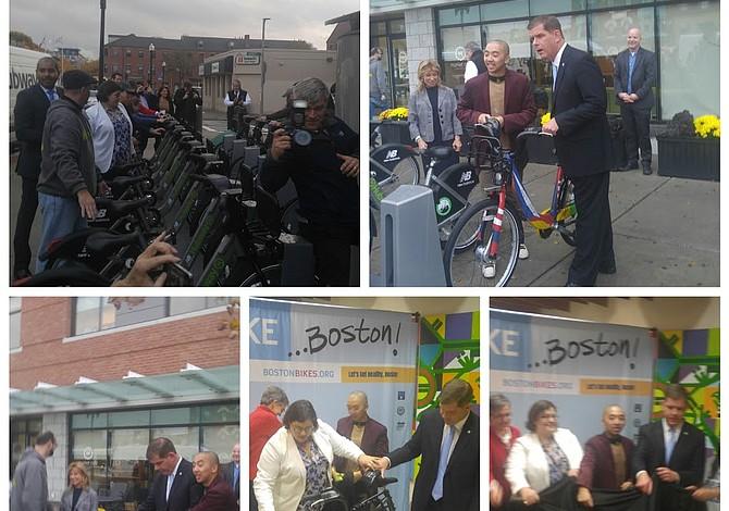 Alcalde Walsh celebró expansión de Hubway a East Boston