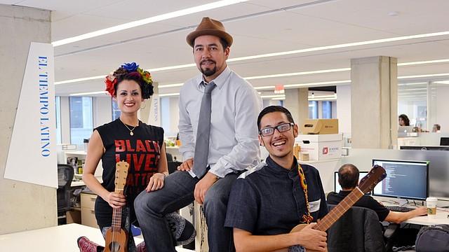 Representantes del grupo musical Las Cafeteras estuvieron en El Tiempo Latino, en la sede de The Washington Post.