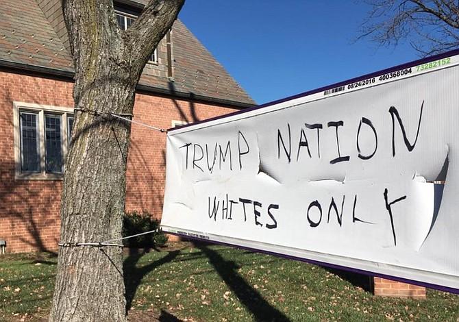Pintadas racistas contra una iglesia de mayoría inmigrante en Silver Spring