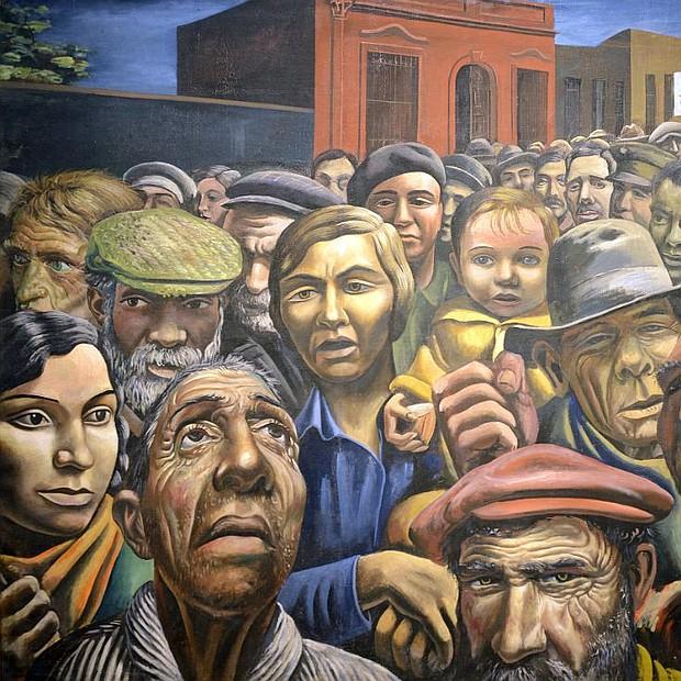 """Cuadro """"Manifestación"""", del artista argentino Antonio Berni"""