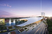 VISTA. El Hotel y Casino MGM en el National Harbor.