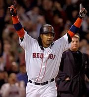 DOMINICANO. Manny Ramírez cuando jugaba con los Medias Rojas de Boston.