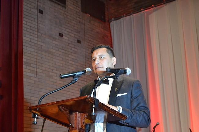 El presidente de la institucion Carlos Romero dirigió un emotivo discurso para los asistentes.