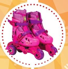 Disney – Patines de entrenamiento ($45) - Los patines de princesas Disney son ideales para principiantes, para empezar a entrenar. Tienen un freno trasero y amarres ajustables en el frente para mayor seguridad. Enseña a tu hija a patinar y diviértete con estos fabulosos Roller Skates.