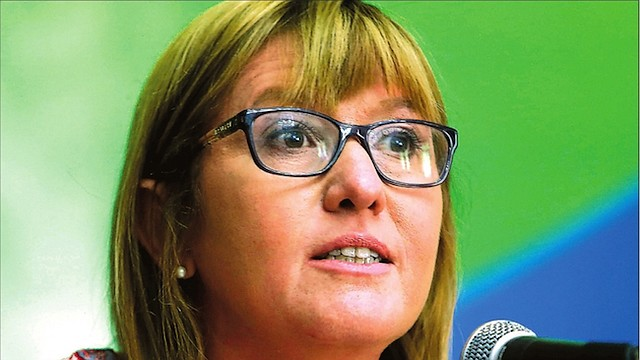 URUGUAY. La viceministra de Salud Pública, Cristina Lustemburg, durante la presentación de la Guia.