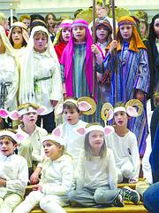 ESCENA. La representación del Pageant es una antigua tradición en las escuelas religiosas.