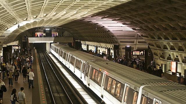 Estación Metro en Washington, DC.