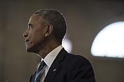 El Presidente Barack Obama en la escuela secundaria Benjamín Banneker en Washington, D.C.