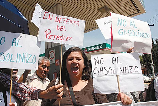 Protesta ciudadana por precios de la gasolina