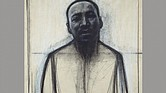 John Wilson, Dr. Martin Luther King, Jr., 1985. Black and white pastel on cream Japanese paper. Richard Florsheim Art Fund and Anonymous Gift.