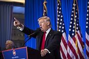 El presidente electo Donald Trump criticó repetidamente a los medios de comunicación durante una conferencia de prensa en la Torre Trump de Nueva York el miércoles 11 de enero de 2016.