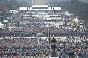 Una vista de la multitud en el Capitolio de EEUU antes de la inauguración del presidente Donald J. Trump el 20 de enero de 2017.