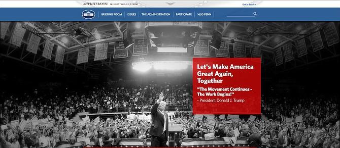 Nuevo sitio de la página web de la Casa Blanca.