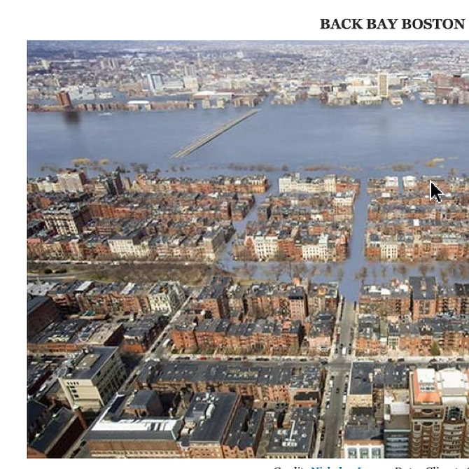 ..O Back Bay. Proyección de Climate Central.
