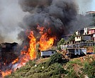 Los incendios se registran desde julio de 2016