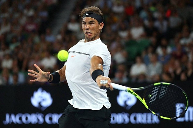 Nadal venció en tres sets a Raonic y enfrentará a Dimitrov en semifinales del Abierto de Australia