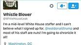 Uno de los tuits de la cuenta WhiteHouseLeak.