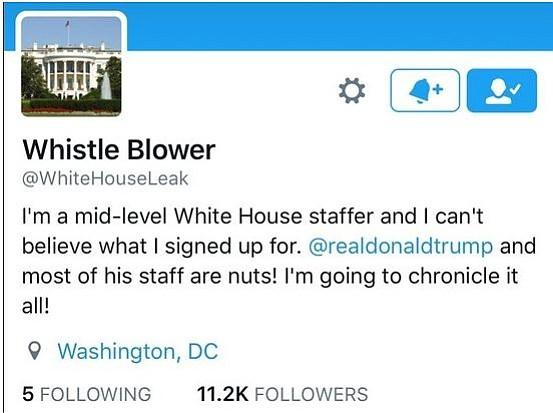Desparece cuenta de Twitter que filtraba información de la Casa Blanca