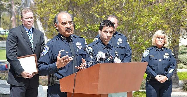 El ex jefe de policía, David Bejarano, durante una conferencia de prensa. Foto-Archivo: Horacio Rentería/El Latino de San Diego.