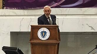 José Mateo en la ceremonia de entrega de premios Commonwealth Awards 2017, en la Casa de Estado