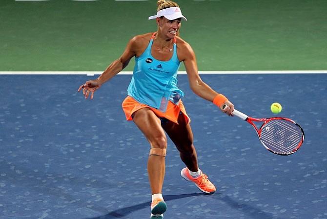 Angelique Kerber derrotó a Puig en la tercera ronda de Dubai