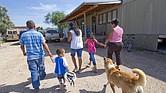 Familia de inmigrantes hispanos residentes en Tucson, Arizona (EEUU)
