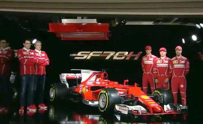 Ferrari presenta monoplaza SF70H que pilotarán Vettel y Raikkonen