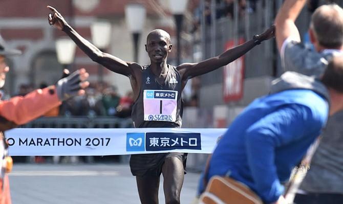 El keniano Wilson Kipsang gana la Maratón de Tokio