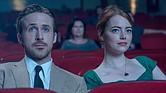 """Sebastian (Ryan Gosling) y Mia (Emma Stone) en """"La La Land."""""""