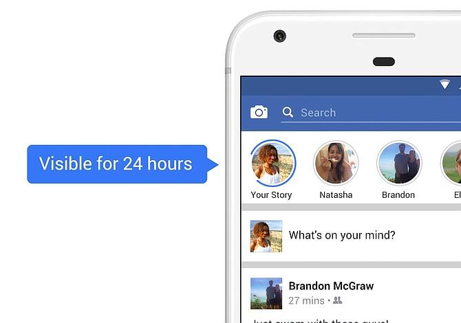 """Facebook habilitó """"historias"""" para sus usuarios"""