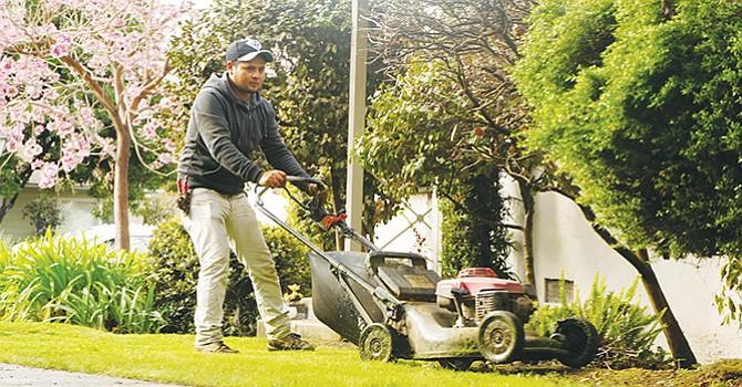 Un jardinero en California. Foto cortesía.