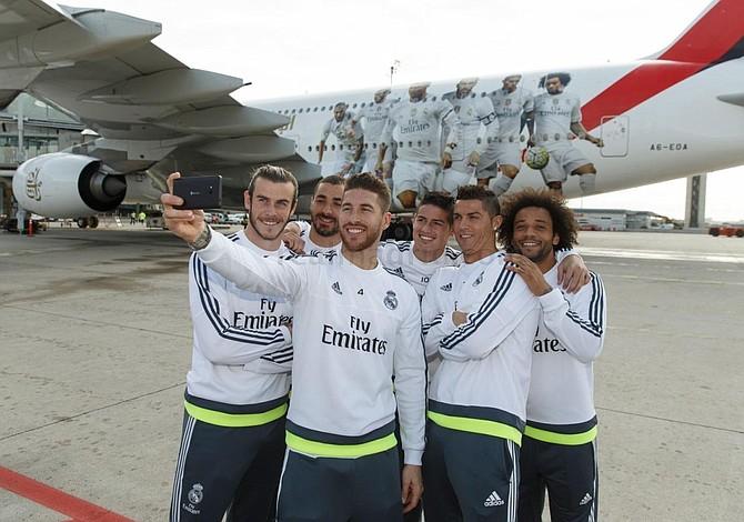 Emirates presenta avión con imágenes de CR7, Bale y Ramos