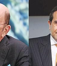 (zq) Wilbur Ross, secretario de Comercio de Estados Unidos. Foto-Cortesía. (der) Ildefonso Guajardo, secretario de Economía de México. Foto-Cortesía.